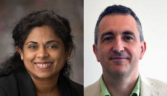 Dr. Angela Anandappa and Dr. Jacques Izard
