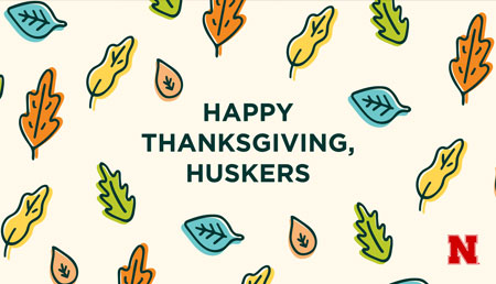 Thanksgiving image with cartoon leaves